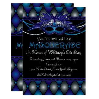 Invitations de partie de mascarade de saphir