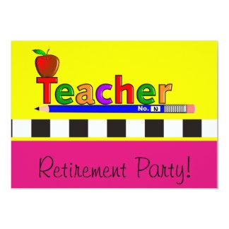 Invitations de partie de retraite de professeurs