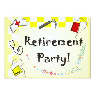 Invitations de partie de retraite d'infirmière