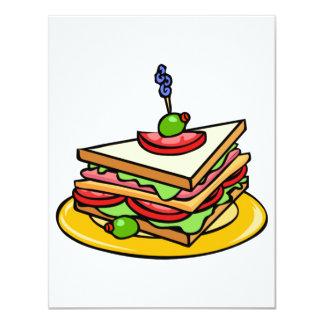 Invitations de sandwich à triangle