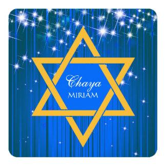 Invitations de scintillement de bat mitzvah carton d'invitation  13,33 cm