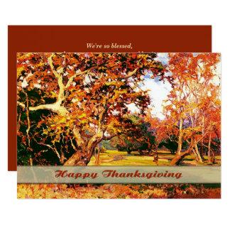 Invitations de thanksgiving de peinture de paysage