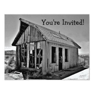 Invitations drôles de cabane de pendaison de