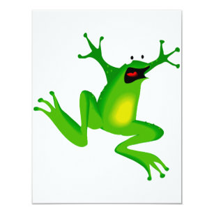 Invitations drôles de grenouille verte