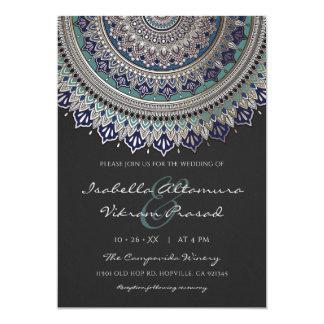 Invitations élégantes de mariage de mandala