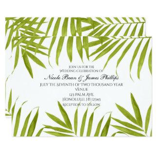 Invitations élégantes de mariage d'été tropical de