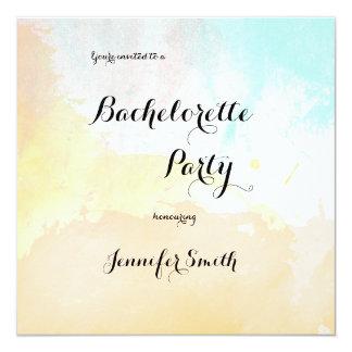 Invitations en pastel de partie de Bachelorette