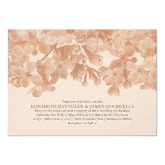 Invitations florales de mariage de Brown