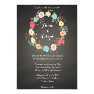 Invitations florales de mariage de guirlande de