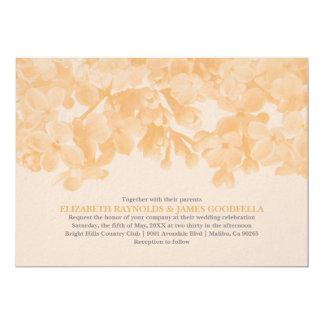 Invitations florales de mariage de pêche