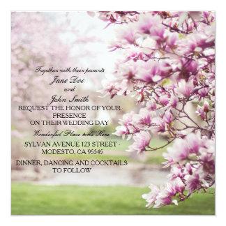 Invitations florales de mariage de printemps