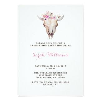Invitations florales d'obtention du diplôme de
