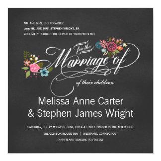 Invitations florales formelles de mariage de
