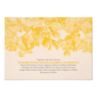 Invitations florales jaunes de mariage