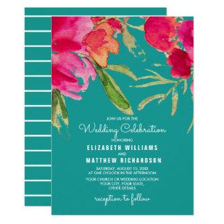 Invitations florales romantiques de mariage
