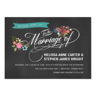 Invitations floraux de mariage de bannière de