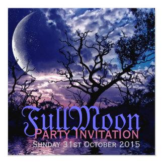 Invitations foncées de partie de Halloween de