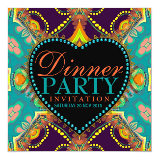 Invitations hippies de Bohème de dîner de batik