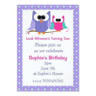 Invitations mignonnes de partie d'anniversaire de