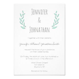 Invitations modernes bleues de mariage de