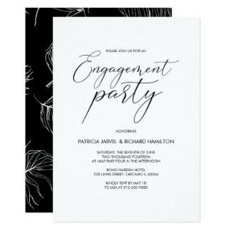Invitations modernes de calligraphie de partie de