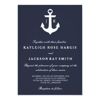 Invitations nautiques de mariage | épousant