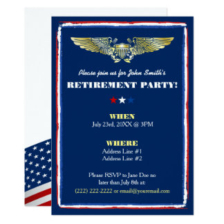 Invitations navales de partie de retraite de