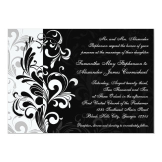 Invitations noires/blanches contemporaines de