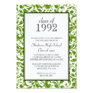Invitations noires vertes de la Réunion de classe