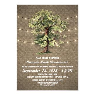 Invitations nuptiales de douche de chêne vintage