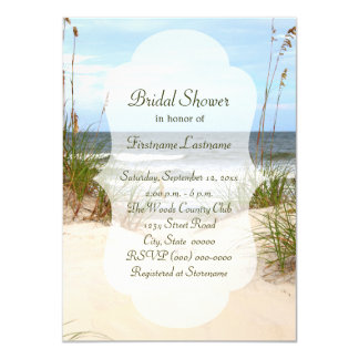 Invitations nuptiales de douche de plage