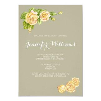 Invitations nuptiales de douche de roses vintages