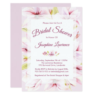 Invitations nuptiales florales de douche de