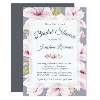 Invitations nuptiales florales de douche de charme