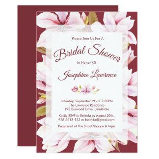 Invitations nuptiales florales Romance de douche
