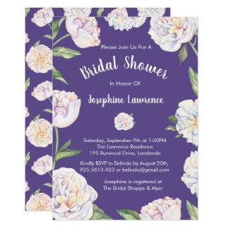 Invitations nuptiales pourpres violettes de douche