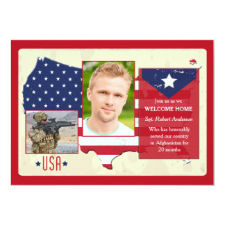 Invitations patriotiques de photo des Etats-Unis