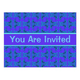 Invitations pourpres de partie de motif de Tiki de