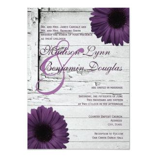 Invitations pourpres Ver2 de mariage de marguerite