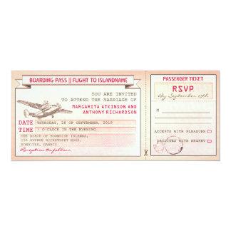 invitations roses de mariage de billet-cru de
