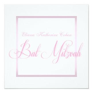 Invitations roses élégantes de bat mitzvah