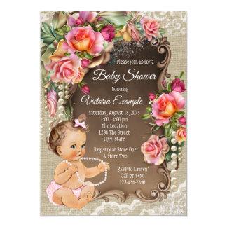 Invitations rustiques de baby shower de perle de