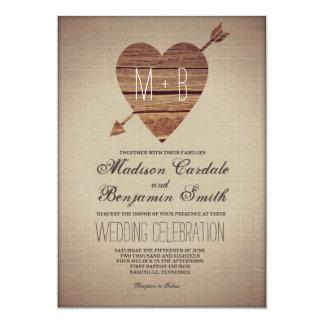 Invitations rustiques de mariage campagnard de