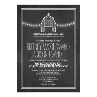 Invitations rustiques de mariage de grange de