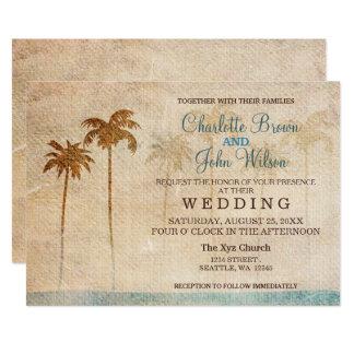Invitations rustiques de mariage de plage de