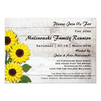 Invitations rustiques de tournesols de la Réunion