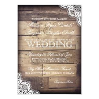 Invitations rustiques en bois et de mariage