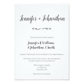 Invitations simples de mariage de manuscrit
