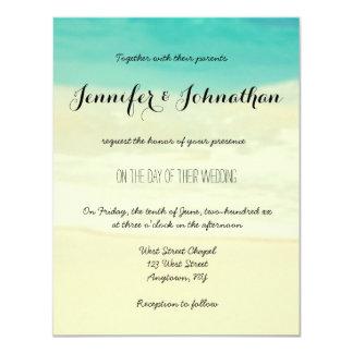 Invitations simples de mariage de plage