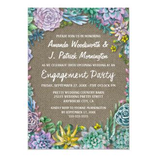 Invitations succulentes de partie de fiançailles